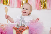 leicester first birthday cake smash photographer