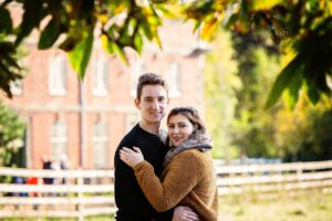 Portrait photographer in Leicester, engagement portraits photographed at Calke Abbey