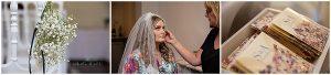 Lichfield, Staffordshire wedding photographer, bride getting ready with bridesmaid and mum