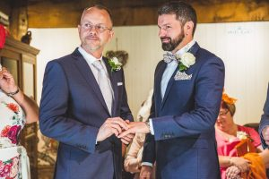 Tamworth, Staffordshire wedding photographer, gay wedding at Nailcote Hall Hotel in Coventry, the vows.